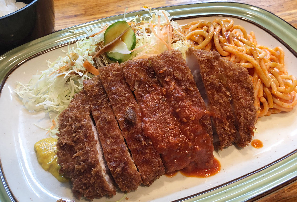 富山市石金にあるコスパ満点の洋食屋「グリル不二軒」のトンカツダブル