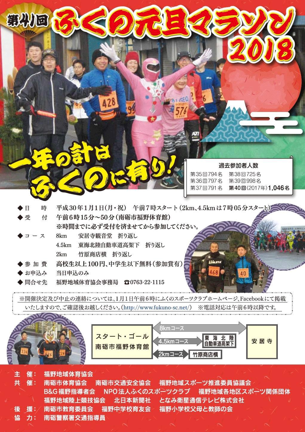 福野元旦マラソン2018