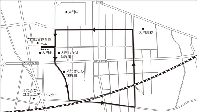 gantanmarathon-daimon-course射水市元旦マラソン2019 大門会場のコース