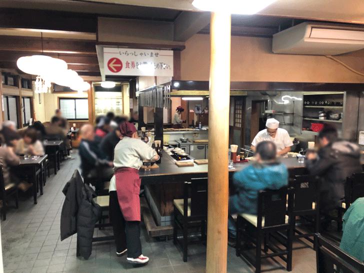 富山市太郎丸、モツ煮込みうどんの糸庄の店内