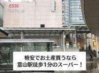 【富山駅徒歩1分のスーパー】お土産や惣菜を安く買うならアルビスエスタ店!