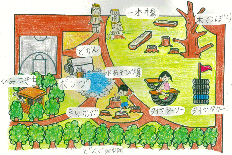 舟橋村こども公園部長のアイデアスケッチ