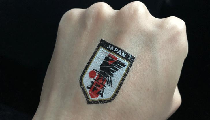 フットサル日本代表富山会場の無料ハンドペイント
