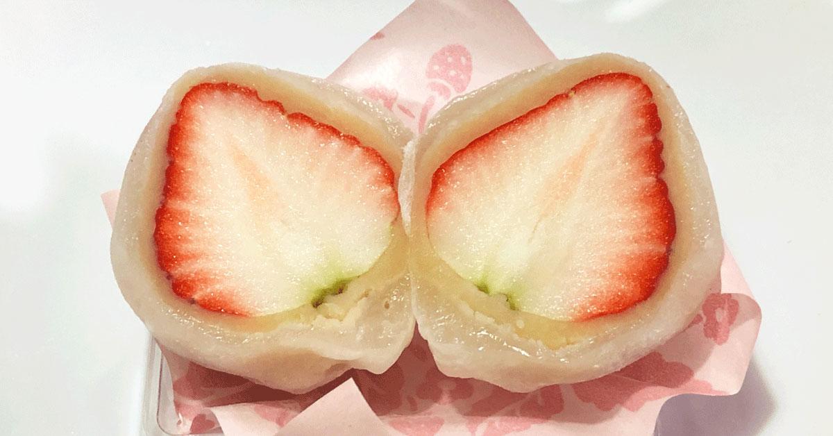 食べなきゃ損な「いちご餅」引網香月堂の期間限定いちご大福
