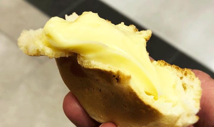 富山名物「七越焼」のカスタード味