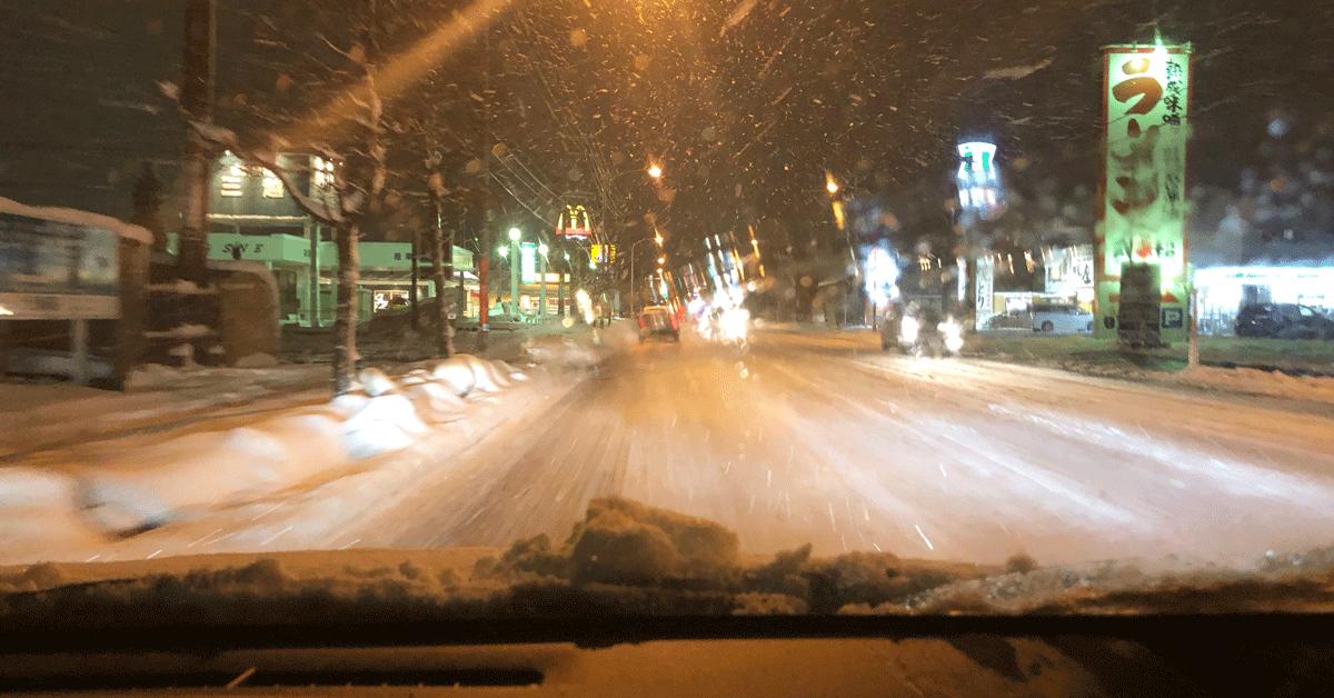 「雪道のろのろ運転で右折できない問題」入れてくれたら感謝度半端ない!