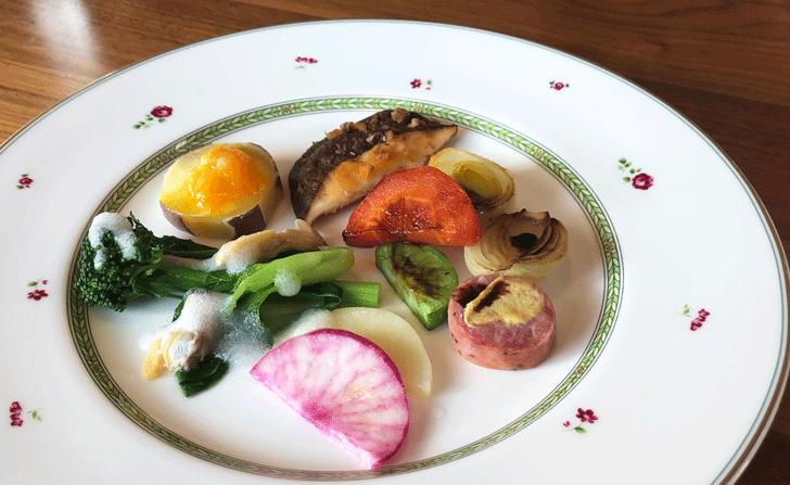 氷見の「イタリアンキッチンオリーブ」の元気野菜の前菜