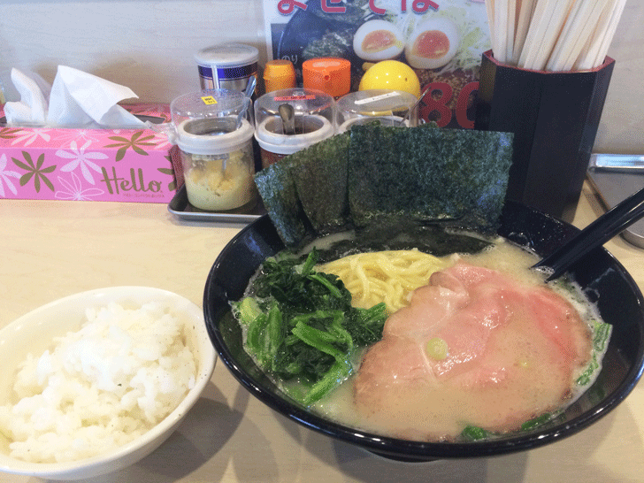 富山のガッツリ横浜家系ラーメン豚骨番長のラーメン