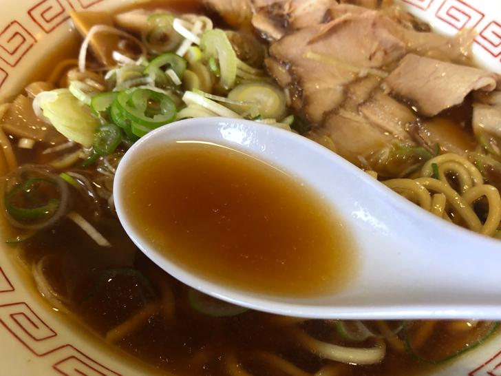 大沢野の人気ラーメン店 五衛門(ごえもん)のスープ