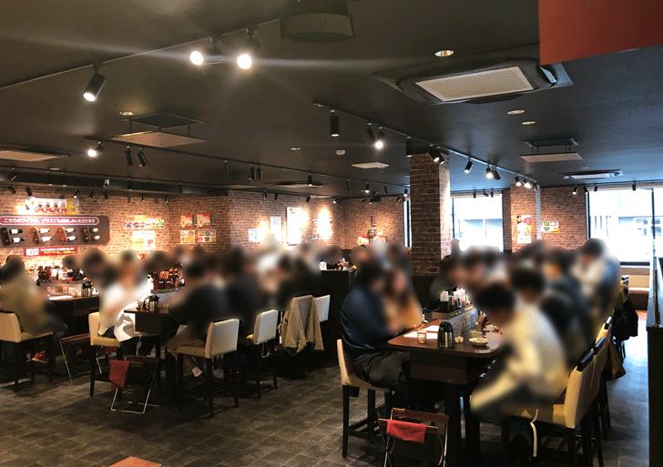 いきなりステーキ天正寺店の店内の様子