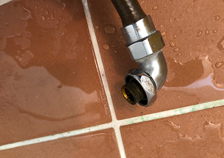 シャワーホース内の水