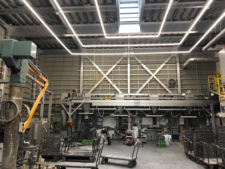能作の鋳物場・鋳造場の様子