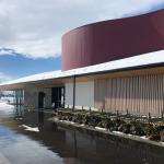 能作の新社屋の外観(冬)