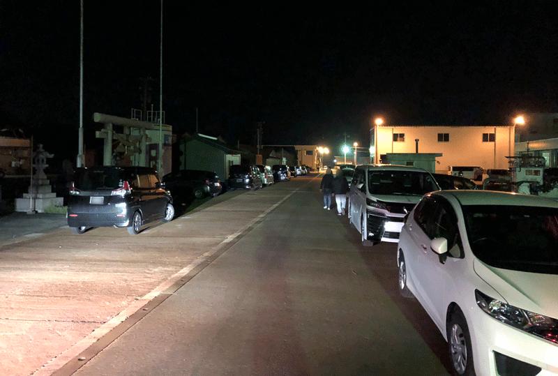 四方漁港の駐車状況