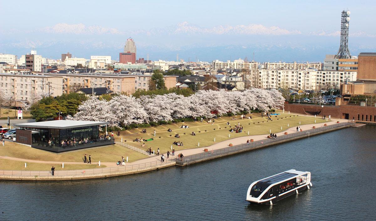 春の桜満喫!環水公園お花見運河クルーズ