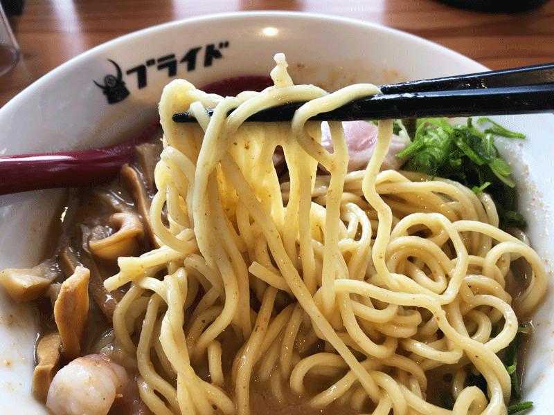 富山駅前「麺バル プライド」の麺
