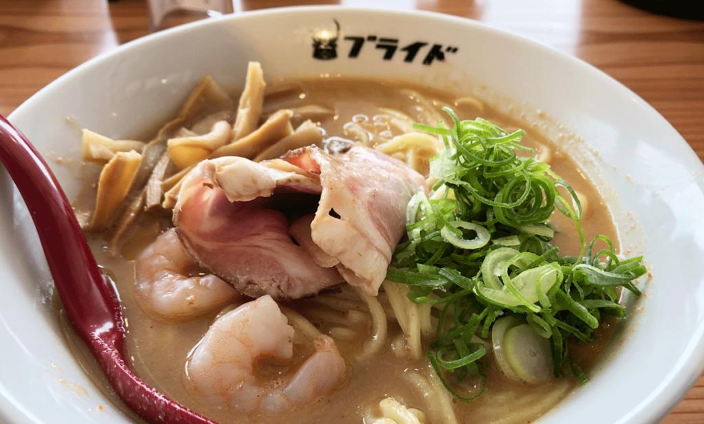 富山駅前「麺バル プライド」店舗限定オマール海老ラーメン