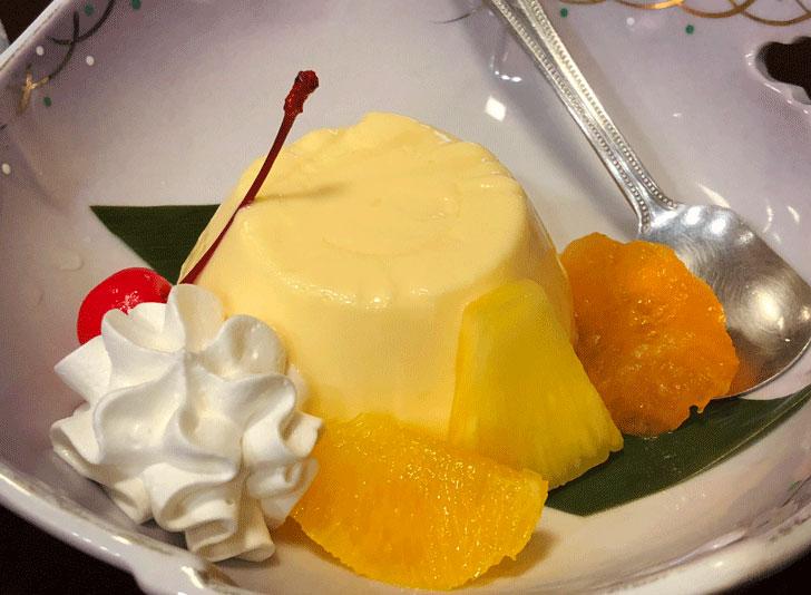 富山市郊外のちょっと贅沢な廻転鮨処すしだるまの渚の卵とろけるプリン