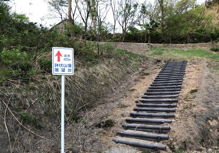 鉢伏山展望台の駐車場の看板