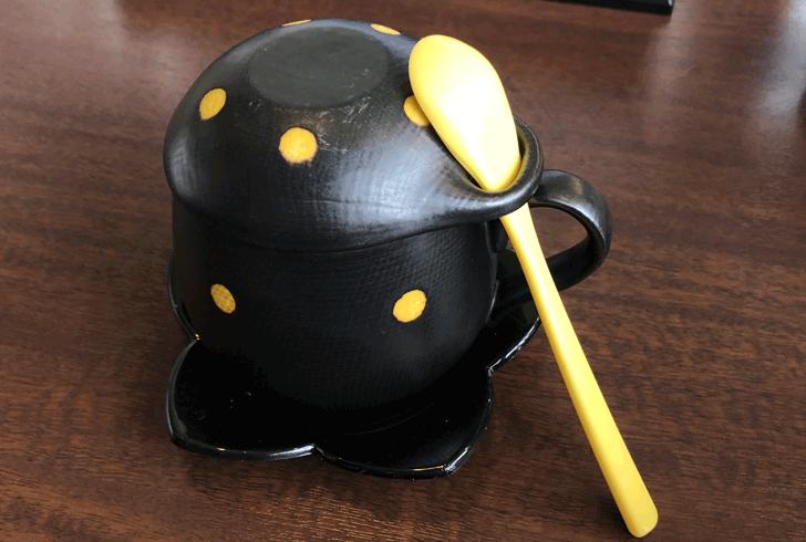 富山市北代のおしゃれラーメン屋【一力亭】の茶碗蒸しのかわいい器