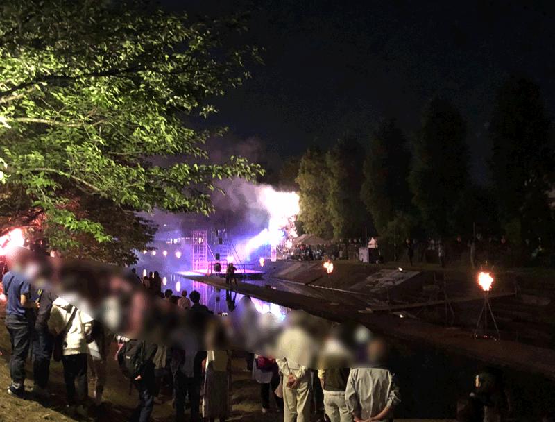 売比河鵜飼祭(めひかわうかいまつり)の最後の締めの花火