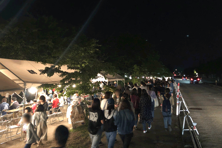 売比河鵜飼祭(めひかわうかいまつり)の混み具合