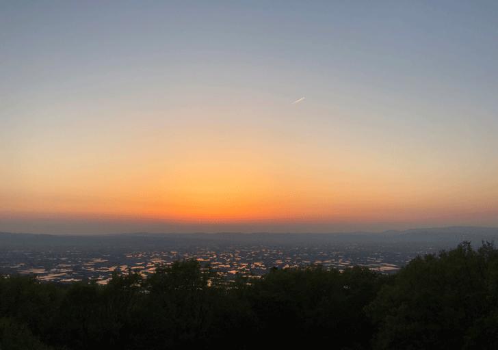 【絶景】砺波平野の散居村の夕焼け4