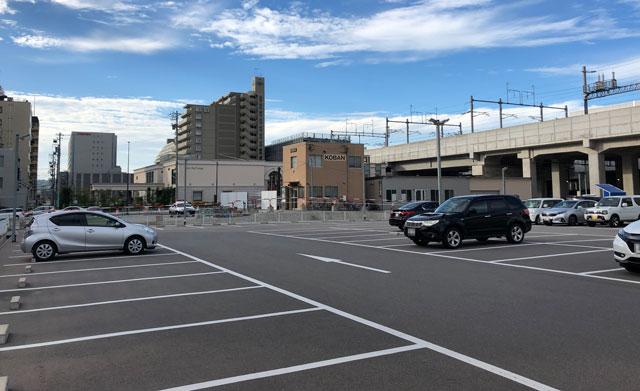 20分までの利用なら富山駅前駐車場の様子