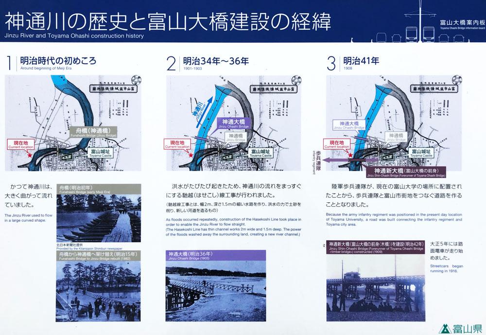神通川の歴史と富山大橋建設の経緯
