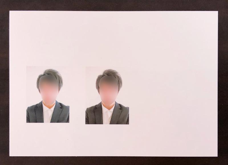 運転免許用写真を印刷したL版