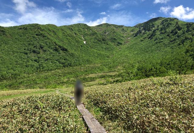 大日平山荘から奥大日岳への登山道