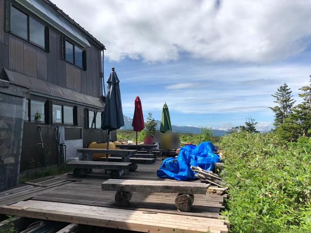 大日平山荘の休憩ポイント