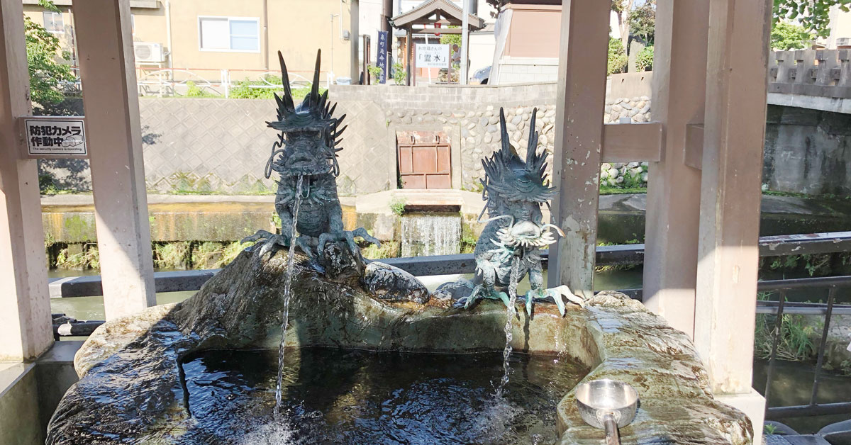 富山市石倉町の延命地蔵尊の名水
