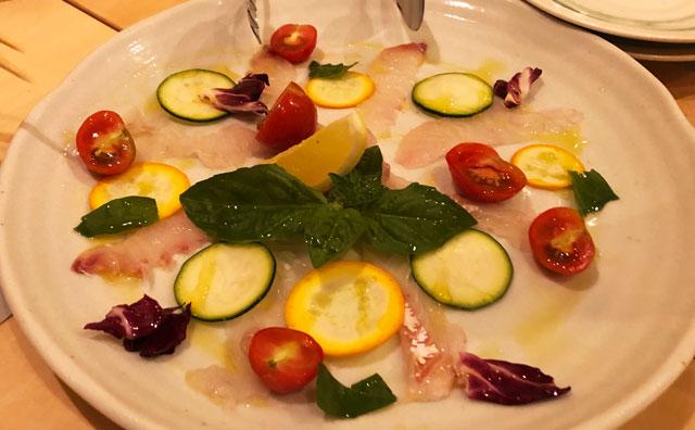 イタリア料理屋「TRATTORIA SACCHI(トラットリア サッチ)」のカルパッチョ