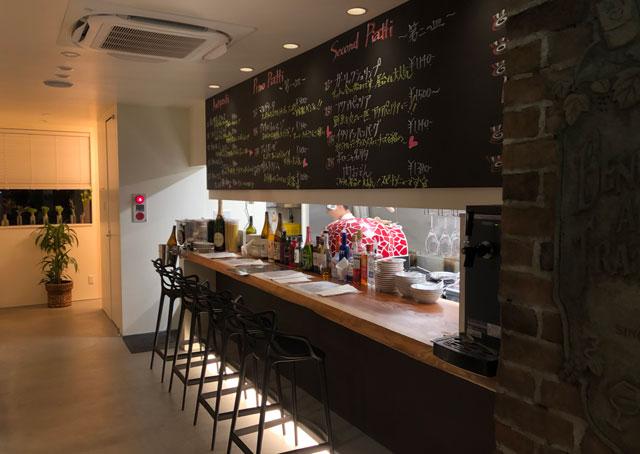 イタリア料理屋「TRATTORIA SACCHI(トラットリア サッチ)」のカウンター席
