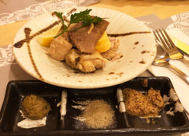 イタリア料理屋「TRATTORIA SACCHI(トラットリア サッチ)」のボローニャ名物 肉おでん