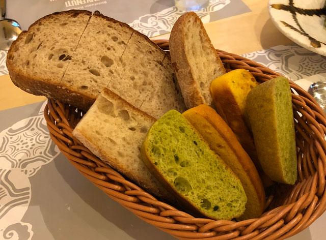 イタリア料理屋「TRATTORIA SACCHI(トラットリア サッチ)」のパン盛り合わせ
