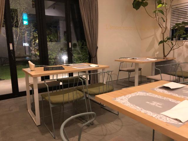 イタリア料理屋「TRATTORIA SACCHI(トラットリア サッチ)」の1階のテーブル席