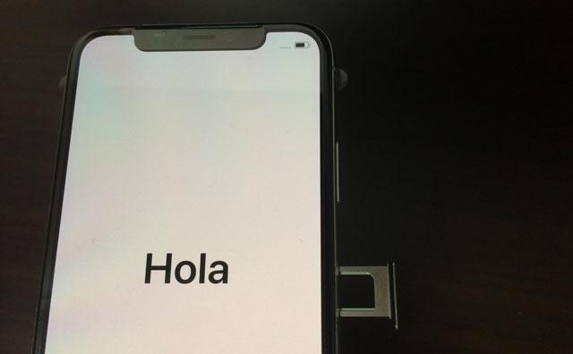 iphoneXのSIM