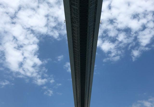 新湊大橋の裏側