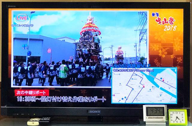 射水ケーブルネットワークで放送されている新湊曳山祭り