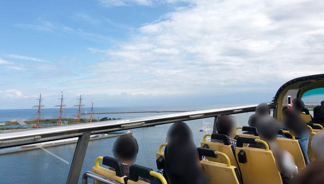 SKY BUS TOYAMA(スカイバストヤマ)から見る海王丸