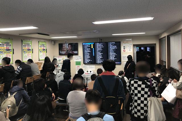 東京駅(丸ノ内鍛冶橋駐車場)の夜行バス乗り場の待合室