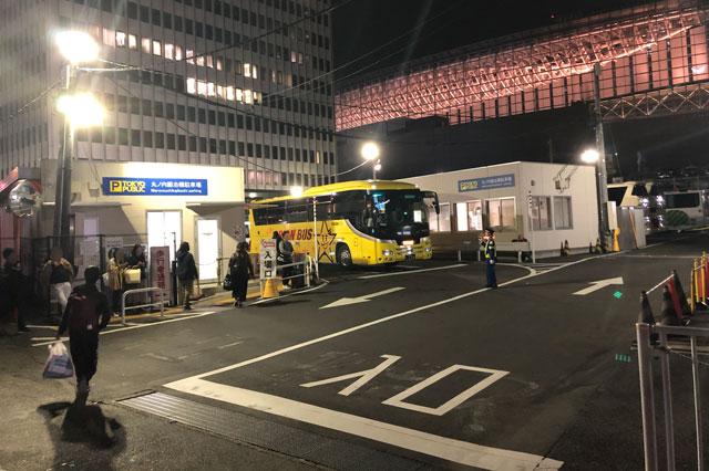 東京駅(丸ノ内鍛冶橋駐車場)の夜行バス乗り場