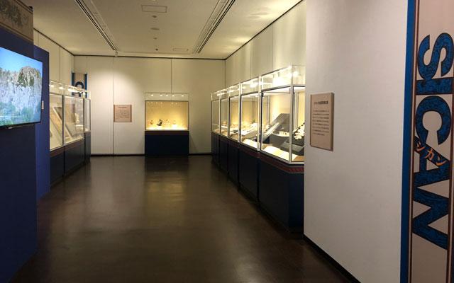 古代アンデス文明展の「シカン文化」エリア