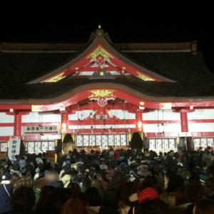 富山 日枝神社(山王さん)の初詣参拝の混み具合