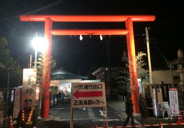 富山 日枝神社(山王さん)の初詣時の西口入場禁止