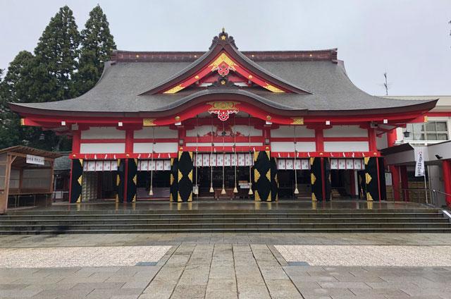 富山 日枝神社(山王さん)の通常時の拝殿
