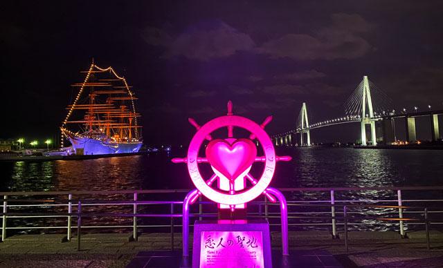 射水市海王丸パークの夜景イルミネーション