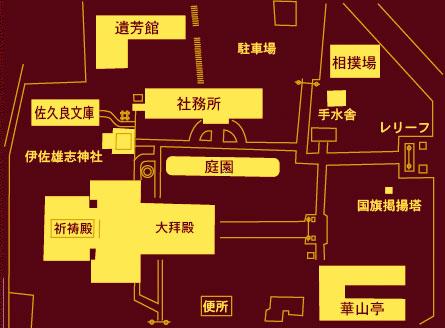 富山縣護國神社の境内地図